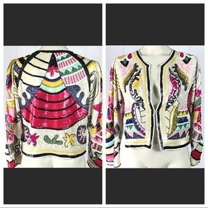 DEADSTOCK Art Deco Sequins Jacket